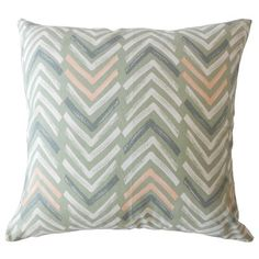 "Corrigan Studio Kristine Geometric Down Filled 100% Cotton Throw Pillow Size: 18"" x 18"", Color: Sundown"