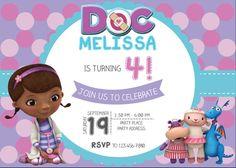 Invitación de la Doctora Juguetes Invitación por BashDesigns15