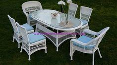 İstikbal Aqua Beyaz 6lı masa takımı