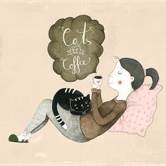 Cats and Coffee illustrated by Judith Loske