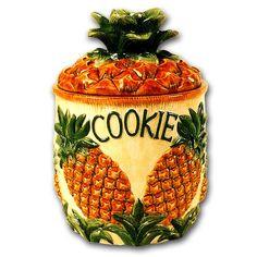 Pineapple cookie jar