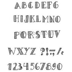 - alphabet w/stripes (unmounted only) Letras Calligraphy Fonts Alphabet, Handwriting Alphabet, Hand Lettering Alphabet, Doodle Lettering, Creative Lettering, Block Lettering, Cute Fonts Alphabet, Cute Handwriting Fonts, Block Letter Fonts