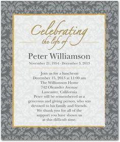 Memorial Celebration of Life burgundy invitatation Card | Trees ...