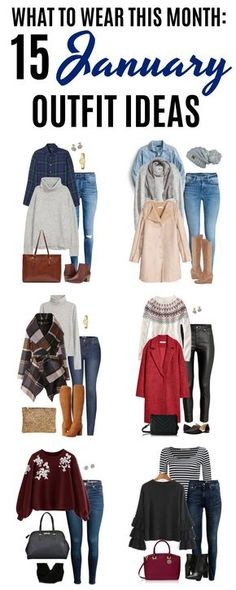 Welcome to the January edition of What to Wear This Month! You'll find 15 January outfit ideas perfect for your winter fashion needs. January is all about layering to stay warm, so you'll find some fantastic layering ideas. You'll be stylish and warm all month long. Click on over to see all 15 outfit ideas for winter. #winterfashion #winteroutfitideas #january #coldweatheroutfits #winter #outfitinspiration #fashionover40