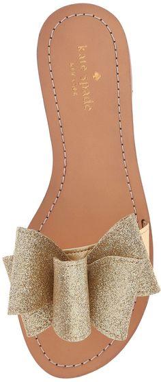 Kate Spade Glitter Bow Sandals