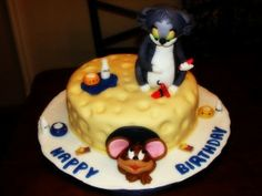 cute tom and jerry birthday cake ideas
