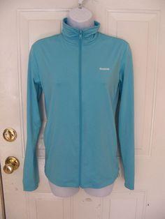 REEBOK PLAYDRY Athletic Jacket Full-Zip Light Blue Size XS Women's NWOT  #Reebok #CoatsJackets