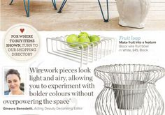 Block Wire Fruit Bowl in Ideal Home