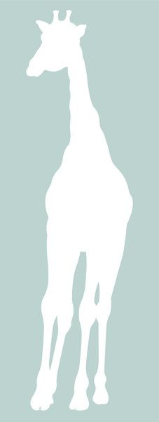 Homeworks Etc, Large Baby Giraffe Nursery Wall Decal Silhouette, white