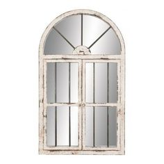 Harrison Window Mirror ($145) ❤ liked on Polyvore featuring home, home decor, mirrors, windows, furniture, backgrounds, decoration, home decorators collection, arched window mirror and antique white mirror