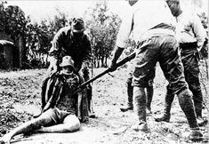 Japanese atrocities during the Rape of Nanking, 1937.