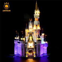 (LED Light Kit (only light included) for LEGO 71040 Cinderella Princess Castle City Model. usb port need : 5 ( we will send a usb hub cable as gift ). Lego Disney Castle, Lego Castle, Led Shop Lights, Can Lights, All Lego Sets, Kai, Sleeping Beauty Castle, Led Light Kits, Castles