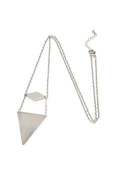 Layered Geo Pendant Necklace from FOREVER 21 o