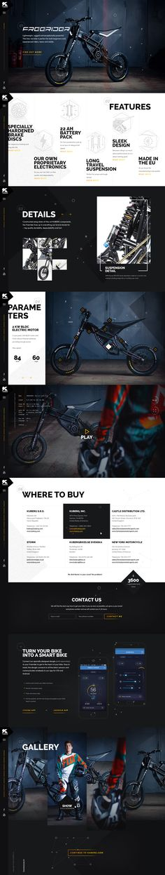 Kuberg – Free Rider website by Michael Čečetka