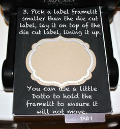 How to emboss with a Stampin' Up Framelit...
