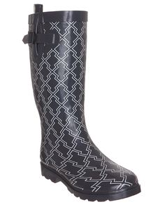 Capelli New York Diamond Geo Ladies Tall Sporty Body Rubber Rain Boot >>> Be sure to check out this awesome product.