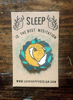 Sleepy Fox Enamel Pin Badge