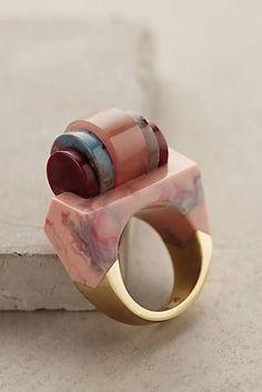 Elke Kramer Mahlab Ring from anthrofave Modern Jewelry, Jewelry Art, Jewelry Rings, Jewelery, Unique Jewelry, Jewelry Accessories, Fashion Jewelry, Fashion Art, Women Accessories
