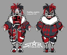 """And the red and black harley version ayo"" Character Design Inspiration, Mode Inspiration, Dc Comics, Gotham Girls, Gotham Batman, Batman Art, Batman Robin, Hearly Quinn, Harley Quinn Comic"