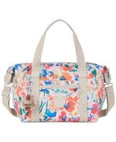 17e47a8768d5 Kipling Art U Tote - Floral Night Natural Tote Handbags