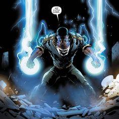 Lightning Powers, Character Inspiration, Character Design, Black Characters, Fictional Characters, Dc Comics, Heroes United, Black Lightning, Magic Art