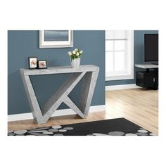 Accent Table - Cement Look - EveryRoom, Gray