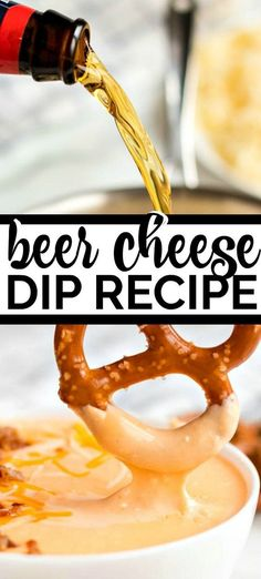 When it comes to parties, you can't go wrong with beer and cheese. Which makes this beer cheese dip recipe, my go to. This recipe is quick and easy to make and it is just so stinking good! It's a creamy, cheesy, pot of deliciousness. I like to serve it up with some warm pretzels. The salty softness is the perfect complement. Cheese Dip Recipes, Appetizer Recipes, Appetizers, Beer Cheese Dips, Pretzel Dip Recipes, Beer Cheese Sauce, Cheese Toast, Best Beer Cheese Dip Recipe, Beer Cheese Recipes
