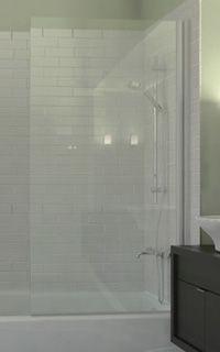 Semi-Frameless Ark Shower Screen