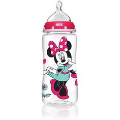 NUK Disney Minnie Mouse 10 Ounce Orthodontic Bottle, 3-Pack, Med Flow, Silicone - Walmart.com