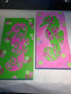 lilly inspired seahorses