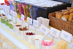 Summer Ice Cream Party: The Ice Cream Sprinkles Table