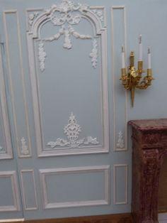 Mon Tout Petit Monde: Petit Trianon - Chambre de Marie-Antoinette - Début des boiseries