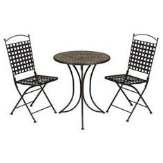 Home 2017 Slate Patio Bistro Set Yellow Furniture Pinterest Chairs Schools And