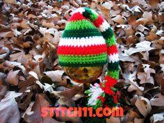 Free Crochet Pattern for 0-3 month Elf Hat