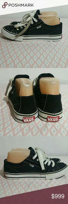 43a9af50daf Vans blsck sneakers sz 6 These shoes are in good used condition. Please  look at