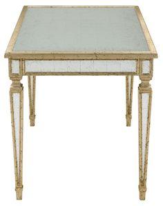 Starlight Mirrored Desk, Silver/Gold - Desks - Office - Furniture  One Kings Lane #Silver#Gold#Desk