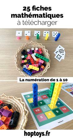 Voici 25 fiches d'exercices mathématiques à télécharger gratuitement pour aborder par le jeu différentes notions mathématiques ! Math Literacy, Montessori Activities, Kindergarten Math, Activities For Kids, Hansel Y Gretel, French Classroom, Simple Math, Free Math, Math Resources
