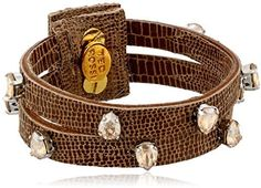 """Ted Rossi Extreme Neon"""" Embossed Leather Double Strand Gem Wrap Bracelet on shopstyle.com"""