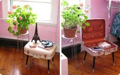 Cool little table. I have a few of these vintage suitcases I'd love to put to use.