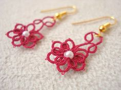 Tatting earings by NossasCoisinhas