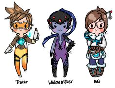 Unrelated to FFXIV but here's some of my Overwatch Chibi's of a few of the cute girls ~ Have yet to complete Zarya and Pharah (Pharah is gonna be difficult ;-;) getting back into the rhythm of drawing again hopefully and will open up commissions...