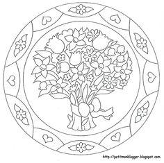 MANDALES PASQUA – Petitmón Recursos – Webová alba Picasa - náměty na jarní a velikonoční mandaly (hodně a pěkné)