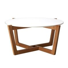 Monterey Coffee Table - Solid American Oak - Natural & White | Milan Direct