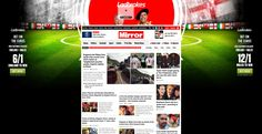Mirror - Huge interactive fireplace advert, scrolls with page. No other adverts