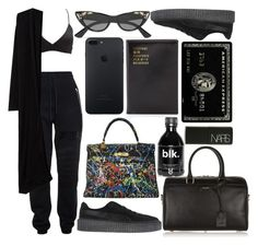 """""""i wanted a b*tch who was down to earth, but she want the goddamn sky"""" by hoodprophet ❤ liked on Polyvore featuring Charlotte Russe, Jeremy Scott, Gucci, MANGO, Puma, Yves Saint Laurent, Hermès, Flight 001 and NARS Cosmetics"""