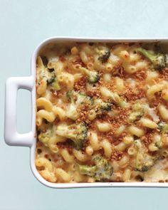 Martha's Cold-Weather Comforts // Lighter Three-Cheese Mac Recipe