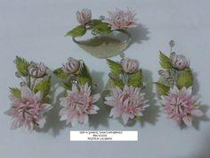 İpek Kozası masa çiçeği ve peçetelik yapımı (Silk Cocoon flowers) part 3