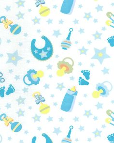 "Little Nursery - Babies Goodies - Baby Blue - 42"" FLANNEL"