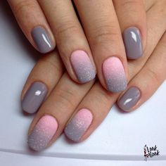 Grey pink ombre