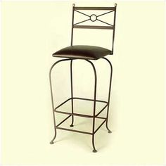 """30"""" Upholstered Flourish Bar Stool w/ Swivel Fabric: Shells, Metal Finish: Antique Bronze by Grace Collection. $237.99. SW130-UPH+ -F-52 (BR) Fabric: Shells, Metal Finish: Antique Bronze Features: -Ships fully assembled.-Swivel seat.-Artistically crafted in wrought iron. Options: -Available in 12 designer metal finishes. Color/Finish: -Painted according to your choice of metal finish. Dimensions: -Dimensions: 18'' W x 20'' D x 49'' H.-Seat height: 30''."""